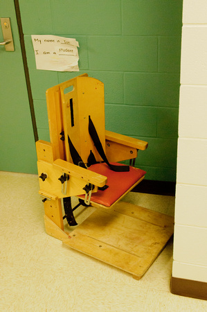 Some children need the assistance of specialized chairs.